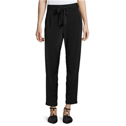 Betty & Co Jersey Trouser With Tie Black