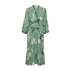 Part Two Japanese Print Dress Green