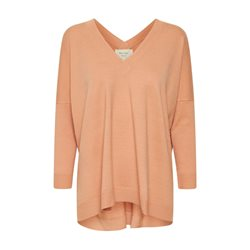 Part Two V Neck Vivian Jumper Peach