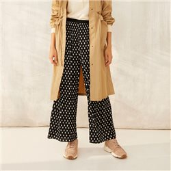 Part Two Polka Dot Cropped Trouser Navy