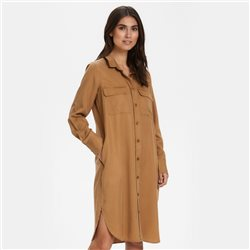 Part Two Shirt Dress Tobacco