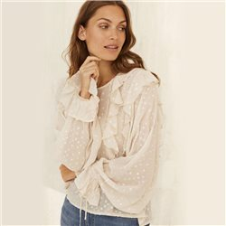 Part Two Frill Detail Blouse Beige