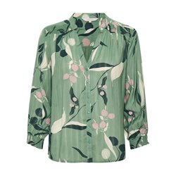 Part Two Japanese Print Blouse Green