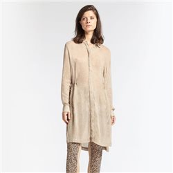 Sandwich Tunic With Drawstring Waist Camel