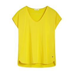 Sandwich V Neck 1/2 Sleeve Top Yellow