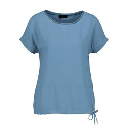 Monari Drawstring Hem Top Blue