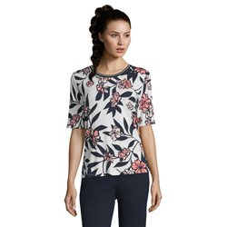 Betty Barclay Floral And Leaf Print Top Pink