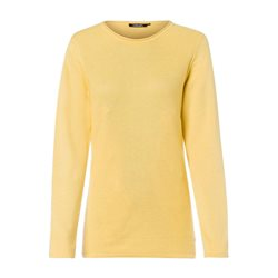 Olsen Knitted Waffle Jumper Yellow