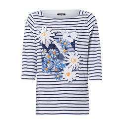 Olsen Daisy Placement Print Top Navy