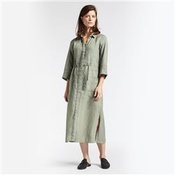 Sandwich Linen Maxi Dress Green