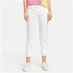 Gerry Weber 7/8 Jean With Decorated Hem Off White