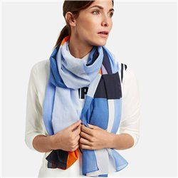 Gerry Weber Cotton Patterned Scarf Blue
