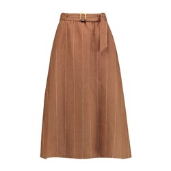 Gerry Weber Linen Stripe Skirt Beige