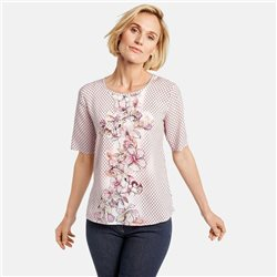 Gerry Weber Floral Panel Blouse Rose