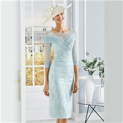 Rosa Clara Jacquard Lace Dress Mint