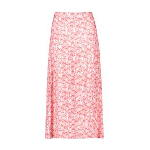 Maxi Snake Print Skirt Pink