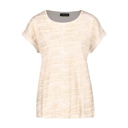 Taifun T-Shirt With Glitter Front Off White