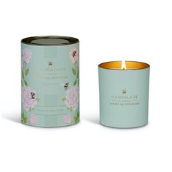 Marmalade Of London English Rose Large Glass Candle Green