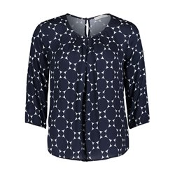 Betty & Co Circle Print Blouse Blue