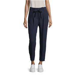 Betty & Co Tie Belt Trousers Navy