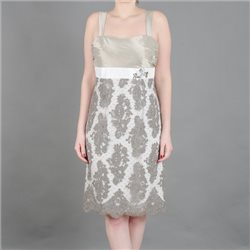 Linea Raffaelli Lace Dress And Bolero Cream