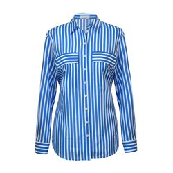 Erfo Striped Shirt With Pockets Blue