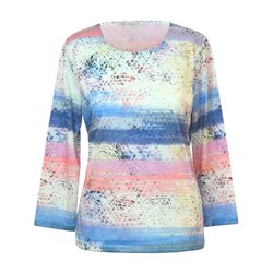 Erfo Abstract Print Top Blue