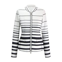 Erfo Striped Jacket Navy
