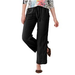 Lebek Linen Trousers Black