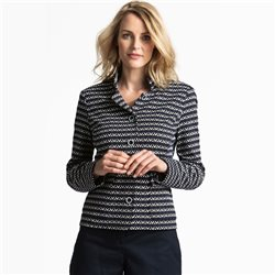Erfo Textured Striped Jacket Navy