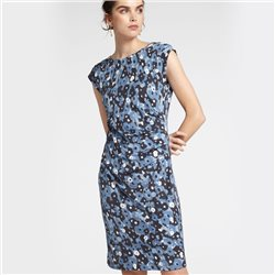 Sandwich Watercolour Print Dress Blue