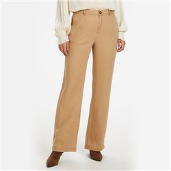 Part Two Begitta Linen Trousers Camel