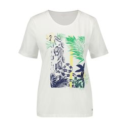 Gerry Weber Organic Cotton Top With Flower Print White