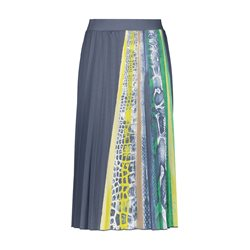 Gerry Weber Pleated Skirt With Print Blue
