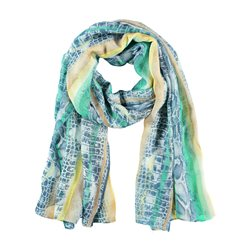 Gerry Weber Scarf With Stripe And Graphic Print Green