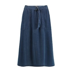 Gerry Weber Lyocell Denim Look Skirt Blue
