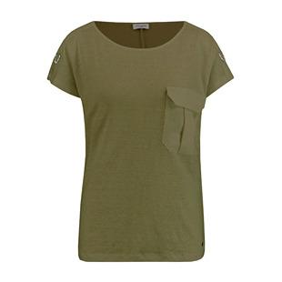 Linen Top With Pocket Khaki