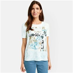 Gerry Weber Top With Floral Panel Print White