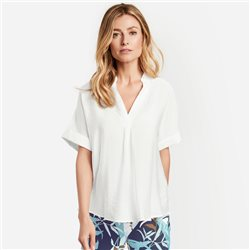 Gerry Weber Shirt With Fold Neckline Off White