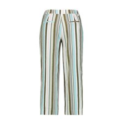 Gerry Weber Striped Linen Trousers White