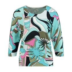 Gerry Weber Abstract Pattern Print Jumper Blue