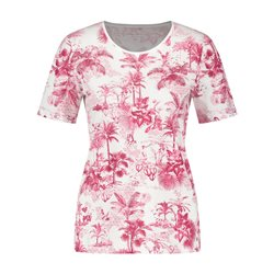 Gerry Weber Palm Print Top Pink