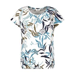 Gerry Weber Pima Cotton Leaf Print Top White