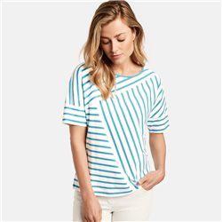 Gerry Weber Panel Stripe Top White