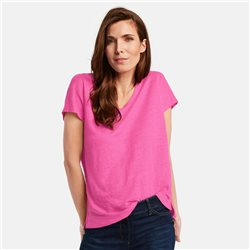 Gerry Weber Linen V-Neck Top Pink