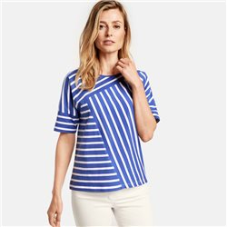 Gerry Weber Panel Stripe Top Blue