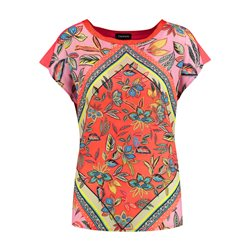 Taifun Graphic Print Top Orange
