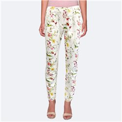 Bicalla Floral Print Trousers White