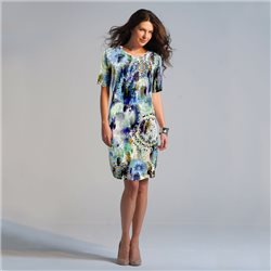Bicalla Printed Dress Turquoise
