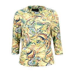 Lebek Floral Print Jacket Yellow